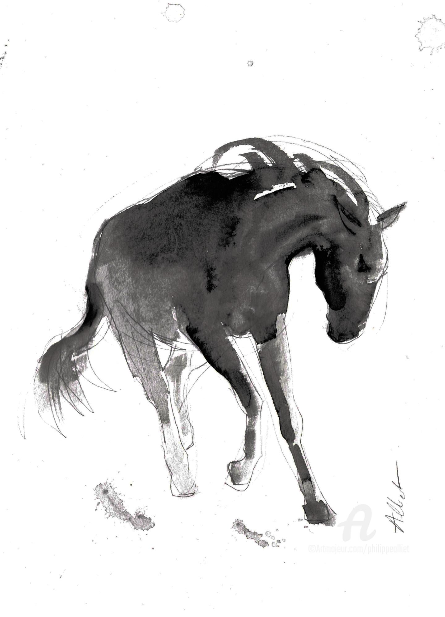 Philippe ALLIET - Cheval rétif 021