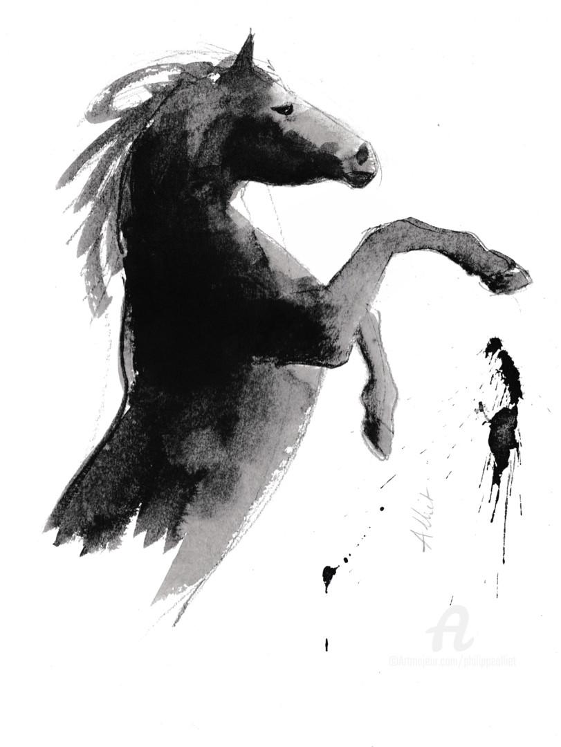 Philippe ALLIET - Cheval rétif 026 (wild horse)