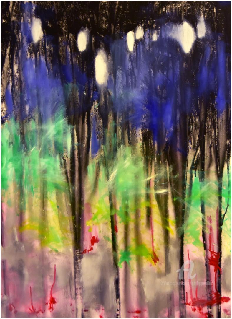 Philippe ALLIET - Abstrait forestier 002