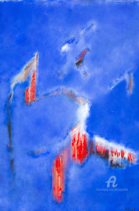 Abstraction bleue 004
