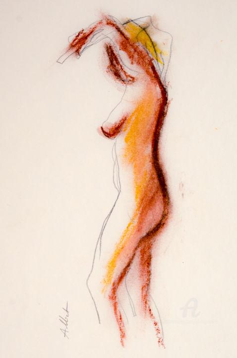 Philippe ALLIET - Nu dansant, doigt pointé