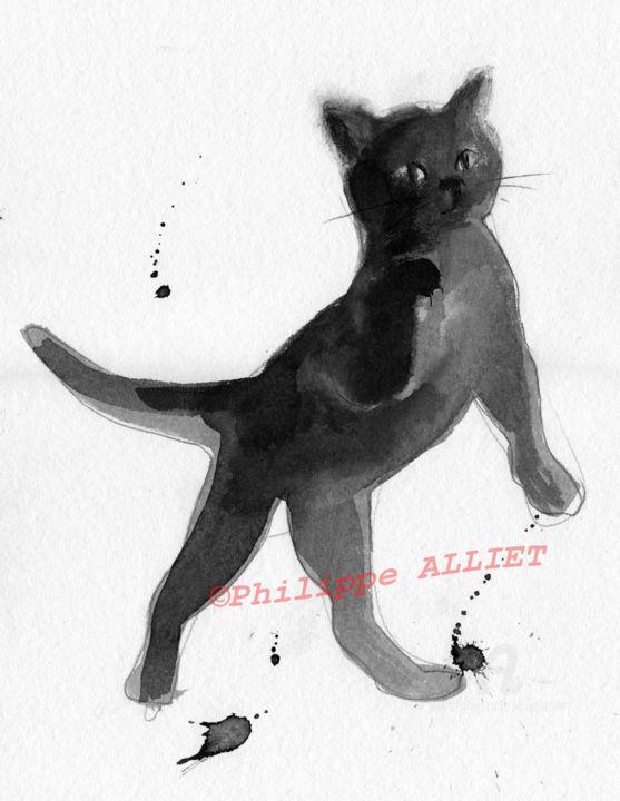 Philippe ALLIET - Chat dynamique 0043