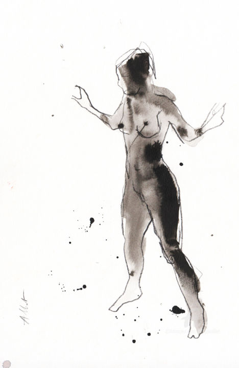 Philippe ALLIET - Nu bras levés