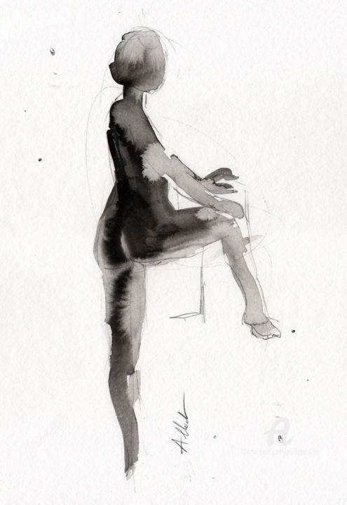 Philippe ALLIET - Nu jambe pliée
