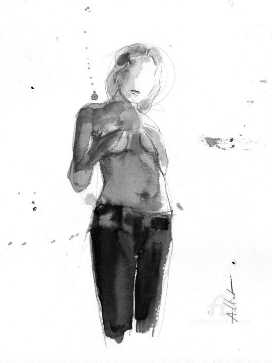 La fille en jean